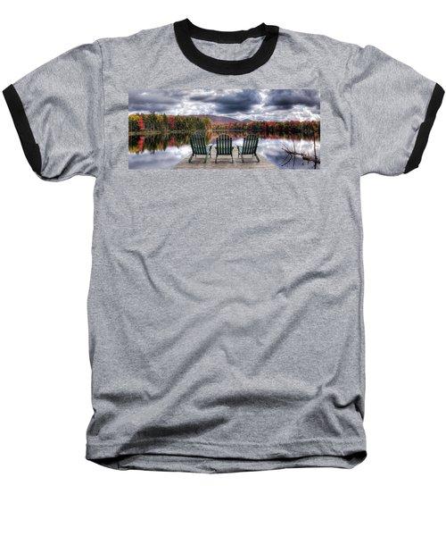 Relishing Autumn Baseball T-Shirt by David Patterson
