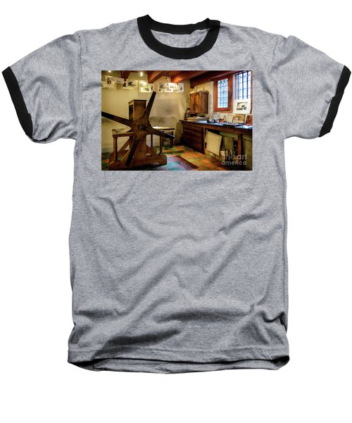 Baseball T-Shirt featuring the photograph Rembrandt's Former Graphic Workshop In Amsterdam by RicardMN Photography