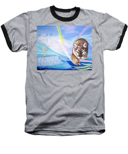 Baseball T-Shirt featuring the painting Remembering Childhood Dreams by Phyllis Kaltenbach