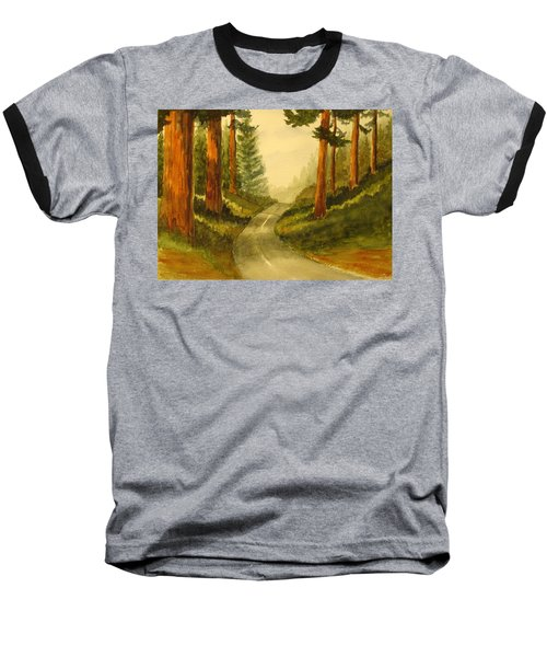 Baseball T-Shirt featuring the painting Remembering Redwoods by Marilyn Jacobson
