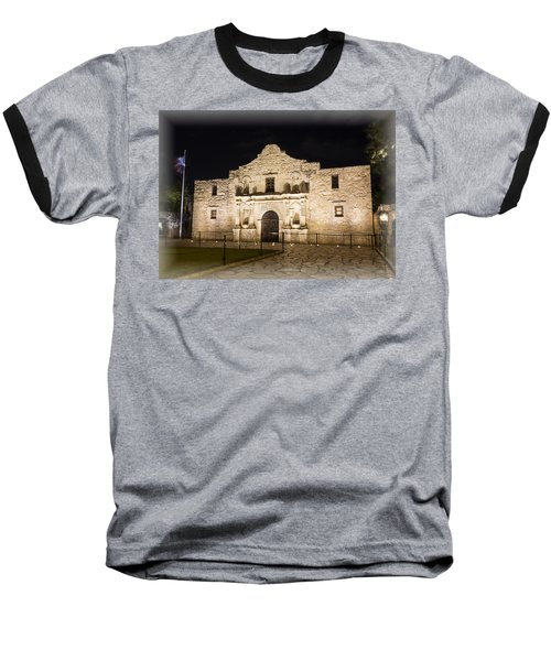 Remembering The Alamo Baseball T-Shirt by Stephen Stookey