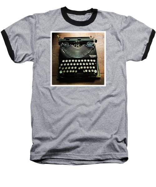 Remington Portable Old Used Typewriter Baseball T-Shirt