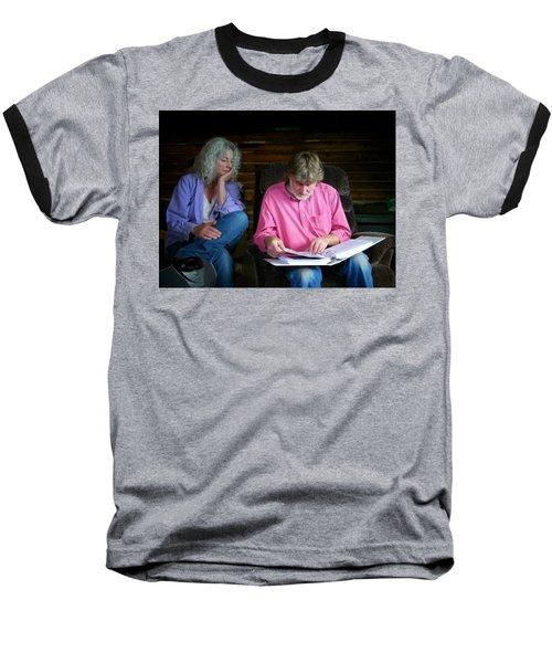 Reminiscing Baseball T-Shirt by Lenore Senior