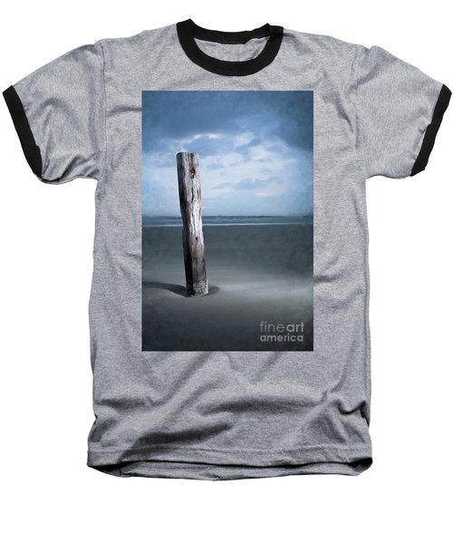 Baseball T-Shirt featuring the painting Remnant Of The Past On Outer Banks Ap by Dan Carmichael