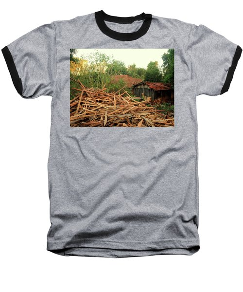 Baseball T-Shirt featuring the photograph Remnants by Beto Machado