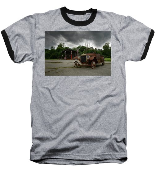 Remnants Of Yesterday Baseball T-Shirt by Renee Hardison