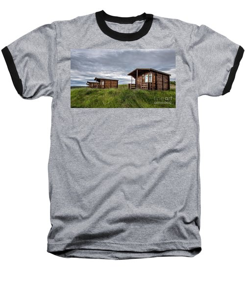 Baseball T-Shirt featuring the photograph Remote Cabins Myvatn Iceland by Edward Fielding
