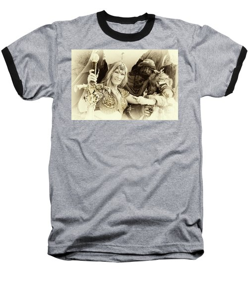 Baseball T-Shirt featuring the photograph Renaissance Festival Barbarians by Bob Christopher
