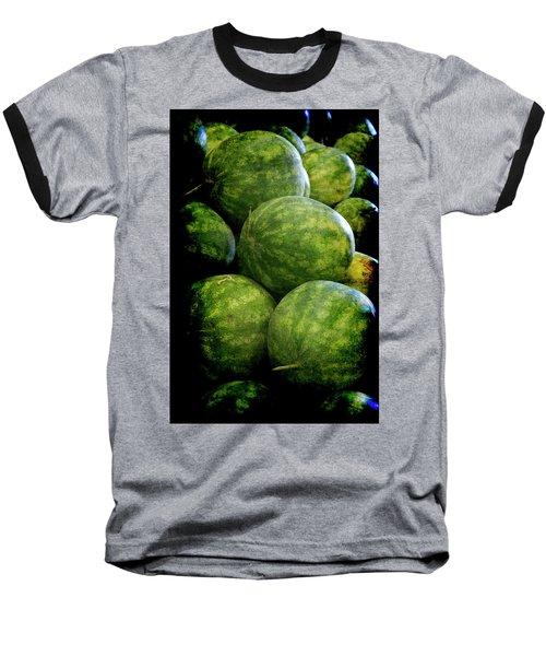 Renaissance Green Watermelon Baseball T-Shirt