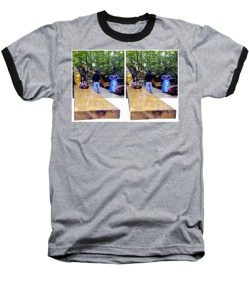 Baseball T-Shirt featuring the photograph Renaissance Slide - Gently Cross Your Eyes And Focus On The Middle Image by Brian Wallace