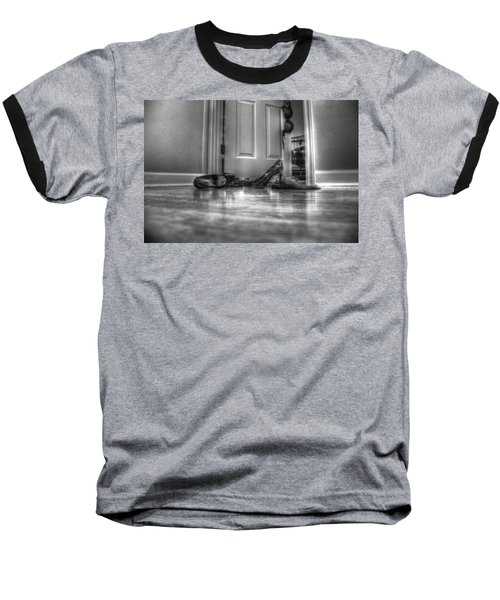 Baseball T-Shirt featuring the photograph Rendezvous Do Not Disturb 05 Bw by Andy Lawless