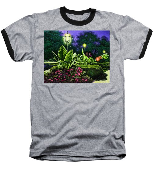 Rendezvous In The Park Baseball T-Shirt by Michael Frank