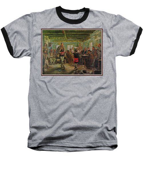 Baseball T-Shirt featuring the painting replica of Ruchenitsa by Nikola Tanev by Pemaro