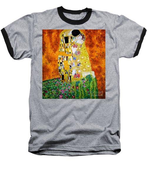 Reproduction Of The Kiss By Gustav Klimt Baseball T-Shirt
