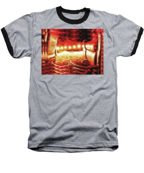 Baseball T-Shirt featuring the digital art Reservations - Row C by Wendy J St Christopher