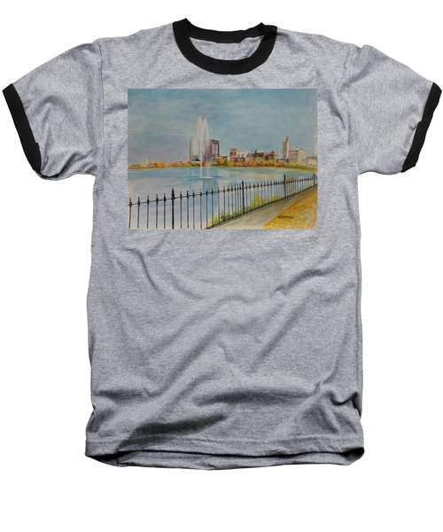 Reservoir In Central Park Baseball T-Shirt