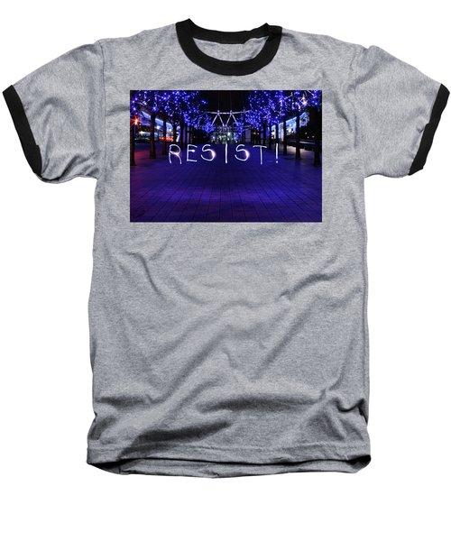 Resistance Light Painting Baseball T-Shirt