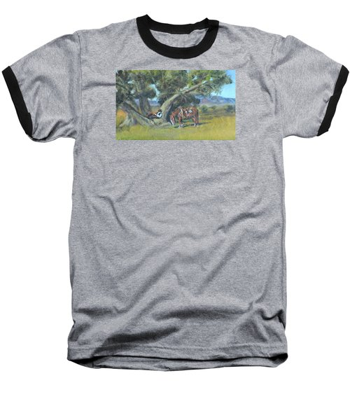 Baseball T-Shirt featuring the painting Resting Cowboy Painting A Study by  Luczay