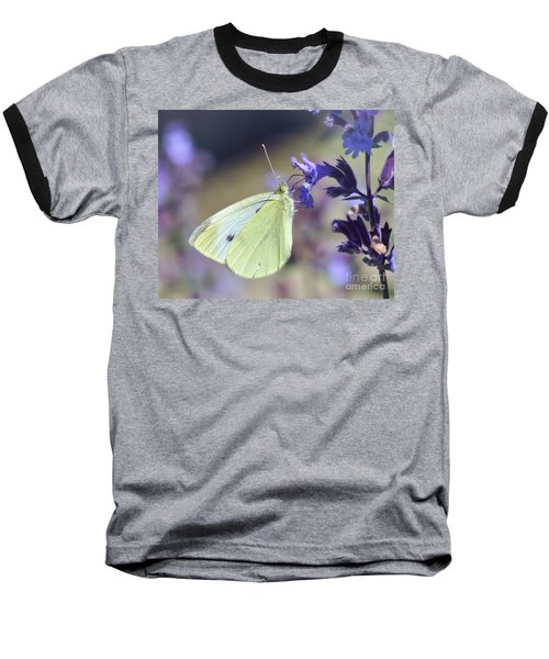 Baseball T-Shirt featuring the photograph Resting In The Purple by Kerri Farley