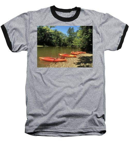 Resting Kayaks Baseball T-Shirt