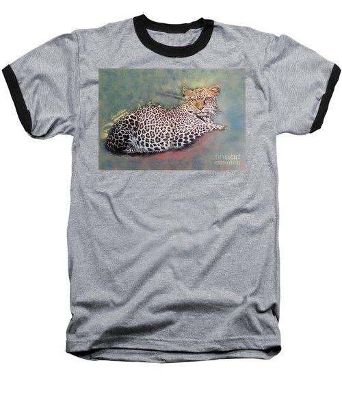 Resting Leopard Baseball T-Shirt