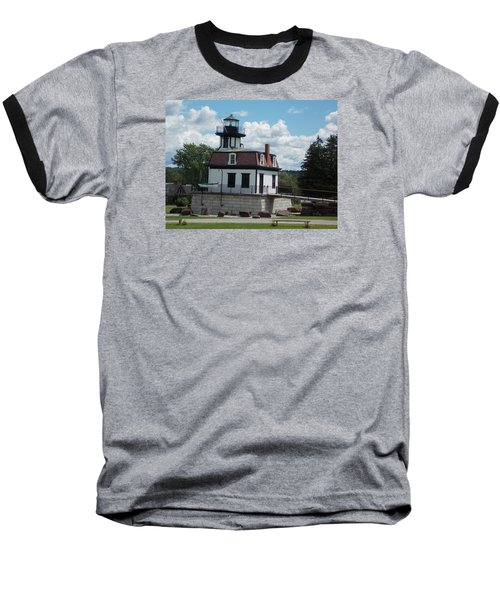 Restored Lighthouse Baseball T-Shirt by Catherine Gagne