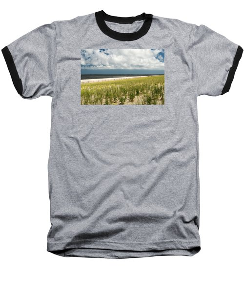 Restoring The Sand Dunes Baseball T-Shirt by Gary Slawsky