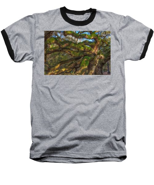Baseball T-Shirt featuring the photograph Resurrection Fern Dons Angel Oak by Patricia Schaefer