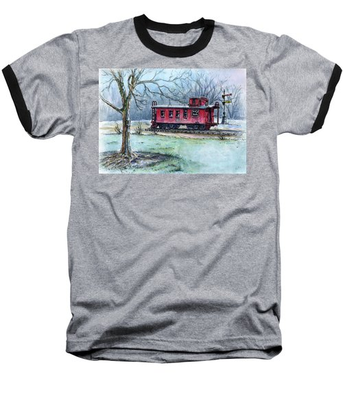 Retired Red Caboose Baseball T-Shirt