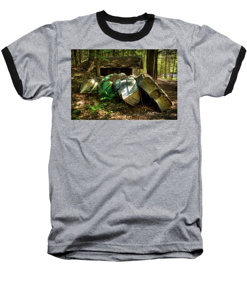 Baseball T-Shirt featuring the photograph Retired Rowboats by David Patterson