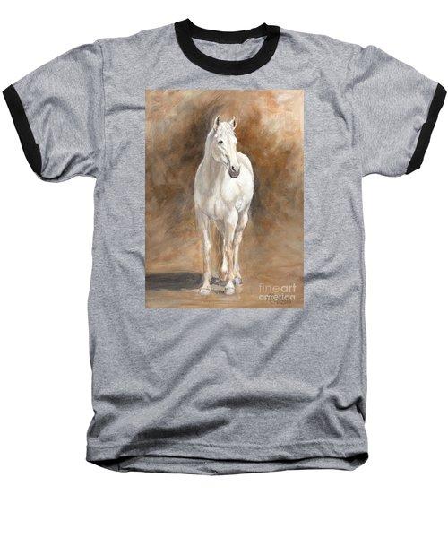 Retired Thoroughbred Race Horse Rustic Baseball T-Shirt