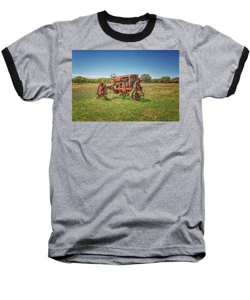 Retired Tractor Baseball T-Shirt