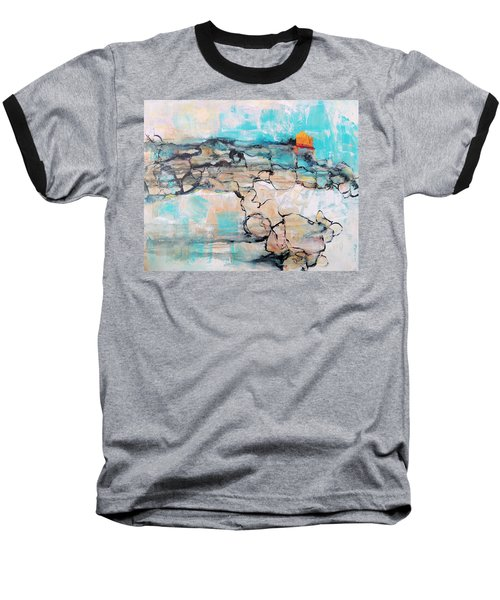 Baseball T-Shirt featuring the painting Retreat by Mary Schiros