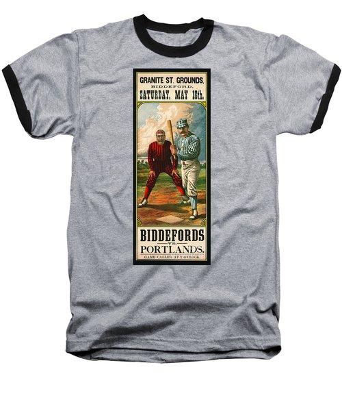 Retro Baseball Game Ad 1885 B Baseball T-Shirt