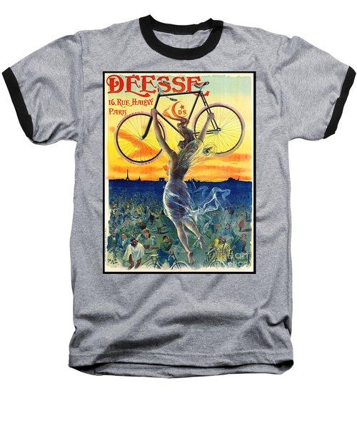 Retro Bicycle Ad 1898 Baseball T-Shirt