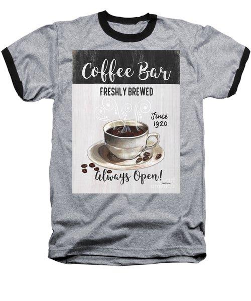 Baseball T-Shirt featuring the painting Retro Coffee Shop 2 by Debbie DeWitt