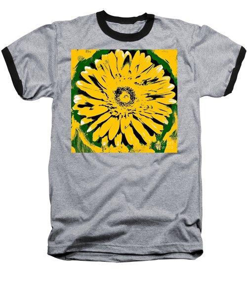 Retro Daisy Baseball T-Shirt by Marsha Heiken