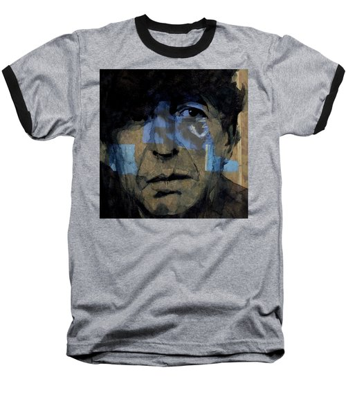 Retro- Famous Blue Raincoat  Baseball T-Shirt by Paul Lovering