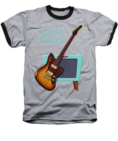 Baseball T-Shirt featuring the digital art Retro Lectric by WB Johnston