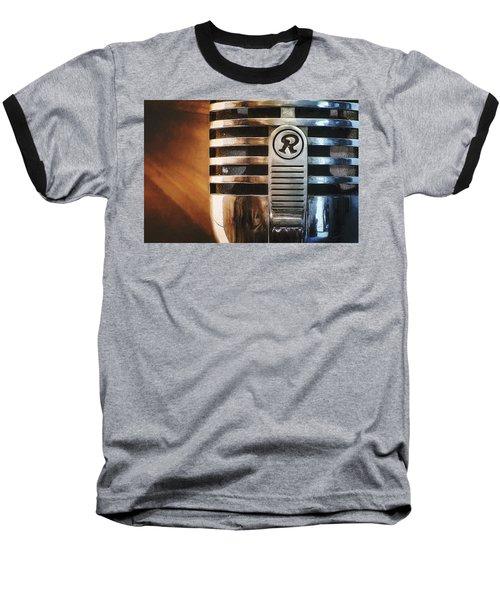 Retro Microphone Baseball T-Shirt