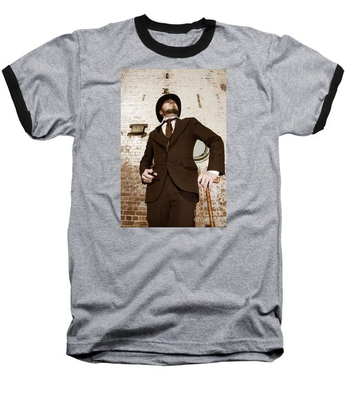 Baseball T-Shirt featuring the photograph Retro Nobel Man by Jorgo Photography - Wall Art Gallery