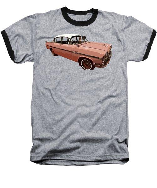 Retro Pink Car Art Baseball T-Shirt