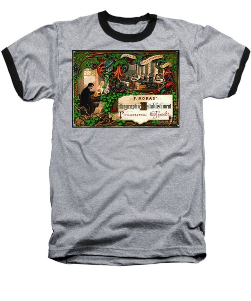 Baseball T-Shirt featuring the photograph Retro Printing Ad 1867 by Padre Art