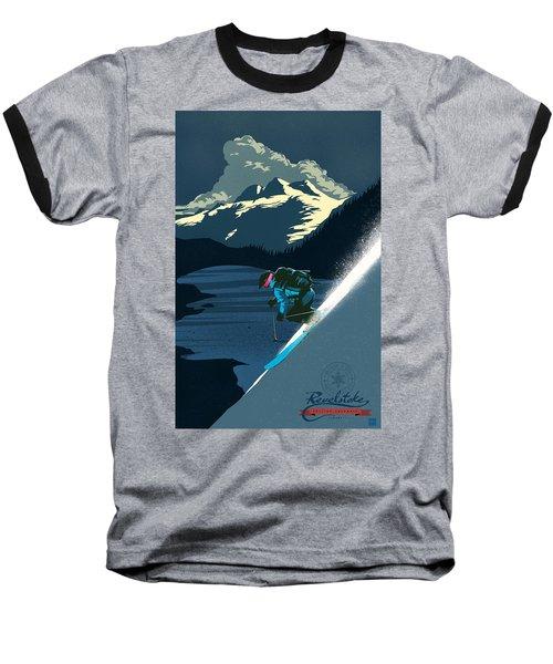 Retro Revelstoke Ski Poster Baseball T-Shirt
