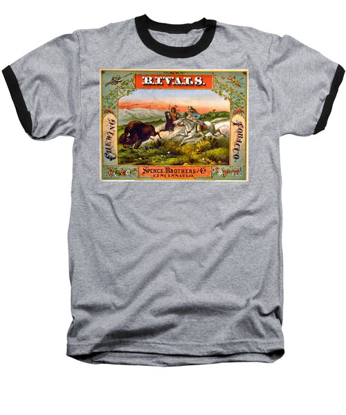 Baseball T-Shirt featuring the photograph Retro Tobacco Label 1872 D by Padre Art