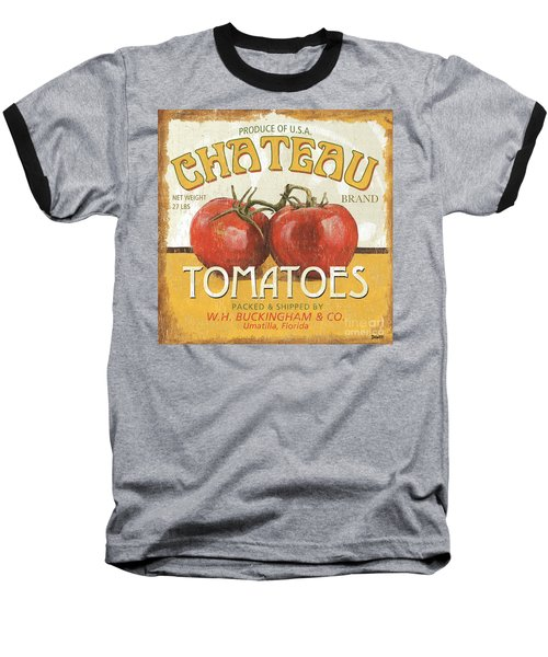 Retro Veggie Labels 4 Baseball T-Shirt