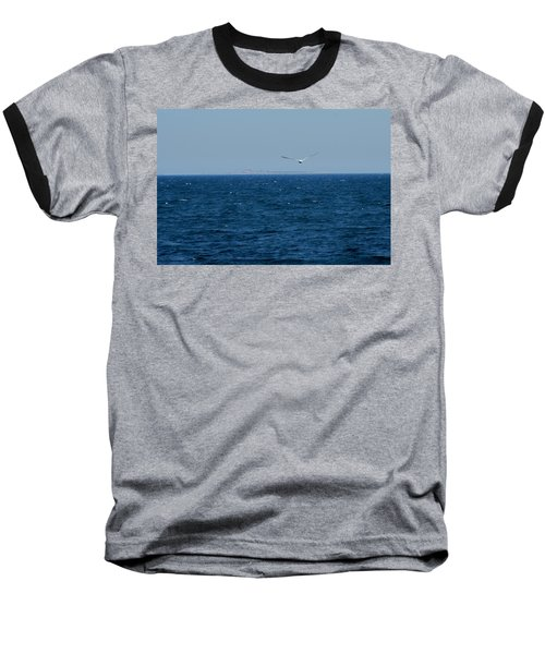 Baseball T-Shirt featuring the digital art Return To The Isle Of Shoals by Barbara S Nickerson