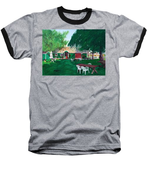Retzlaff Winery Baseball T-Shirt by Mike Robles