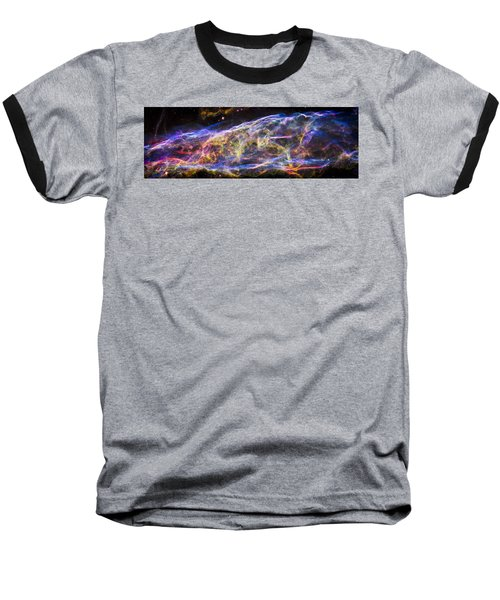 Baseball T-Shirt featuring the photograph Revisiting The Veil Nebula by Adam Romanowicz