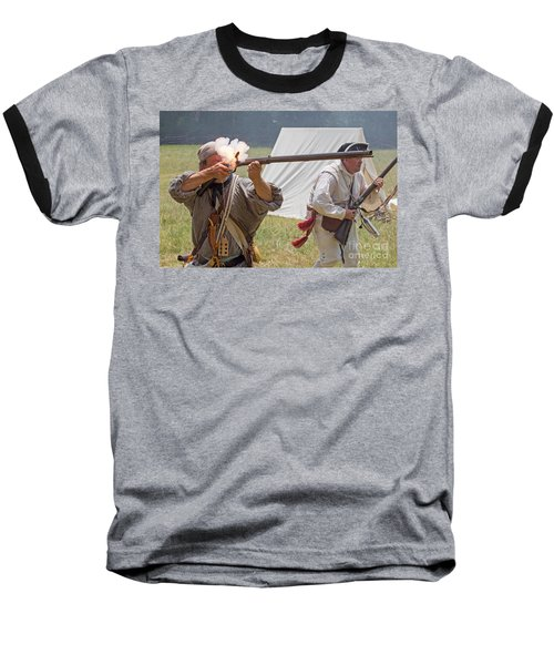 Revolutionary War Reenactment Baseball T-Shirt